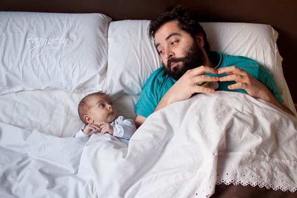 mutlu babalar ve bebekleri